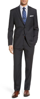 Men's Hart Schaffner Marx Classic Fit Check Wool Suit $695 thestylecure.com