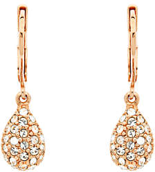 At John Lewis And Partners Finesse Swarovski Crystal Teardrop Earrings