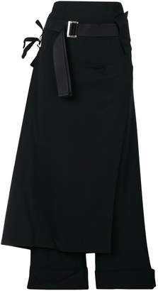 132 5. Issey Miyake wrap front wide leg trousers