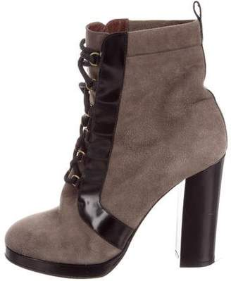 Marc by Marc Jacobs Suede Lace-Up Ankle Boots