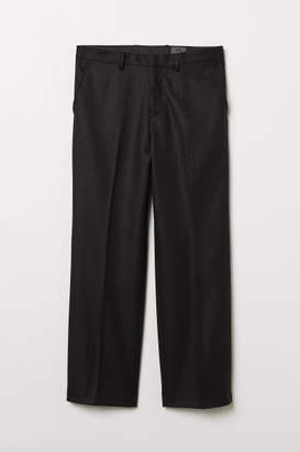 H&M Wide-cut Wool Suit Pants - Black