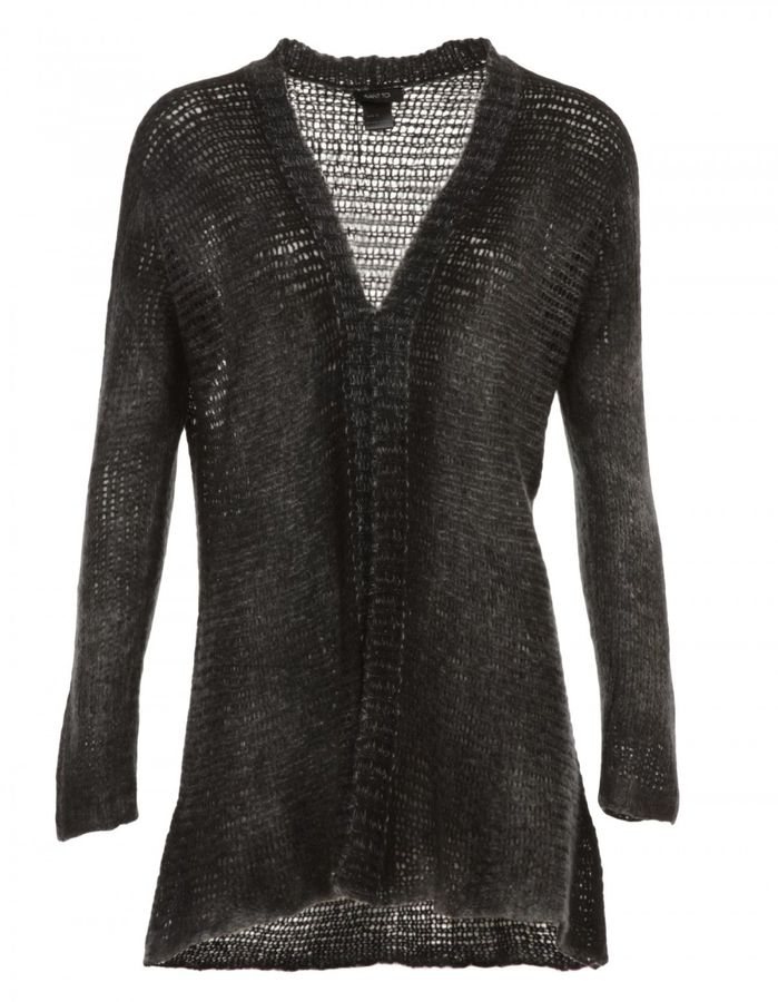 Avant Toi Avant Toi Long Plain Knitted Cardigan In Cashmere And Wool