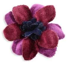hook + ALBERT Two-Tone Velvet Lapel Flower