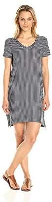 Michael Stars Women's French Terry Stripe Short Sleeve Sweatshirt Dress