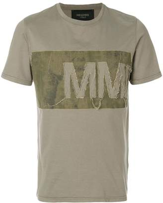 Mr & Mrs Italy distressed logo panel T-shirt