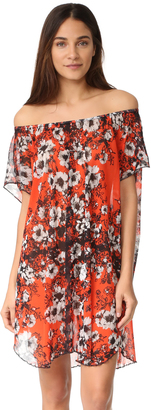 Fuzzi Floral Off the Shoulder Dress $355 thestylecure.com
