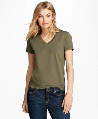 Garment-Dyed V-Neck T-Shirt $24 thestylecure.com