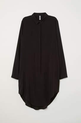 H&M Long-sleeved Tunic - Black