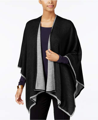 Charter Club Tipped Knit Reversible Poncho, Only at Macy's $88.50 thestylecure.com