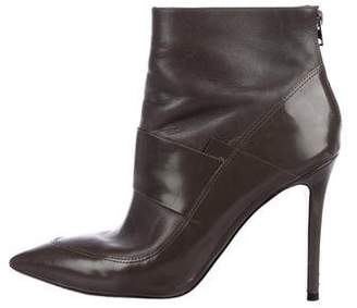 AllSaints Leather Pointed-Toe Ankle Boots