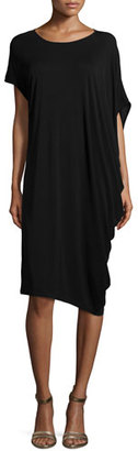 Eileen Fisher Silk Jersey Asymmetric Dress, Petite $378 thestylecure.com