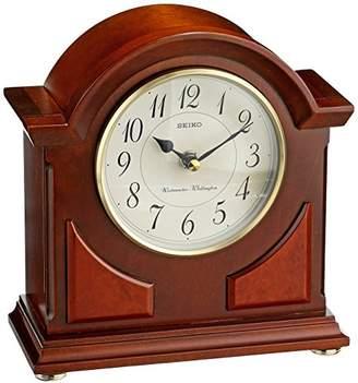 Seiko Mantel Chime Clock Brown Wooden Case
