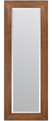 Gallery Solutions 16x57 Walnut Woodgrain Framed Beveled Wall or Leaner Mirror