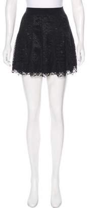 BCBGMAXAZRIA Lace Mini Skirt