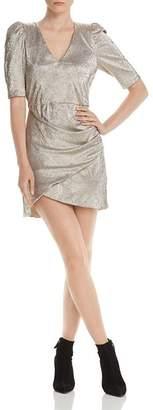 Alice + Olivia Judy Metallic Ruched Dress
