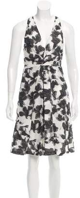 Thakoon Abstract Print Devoré Dress