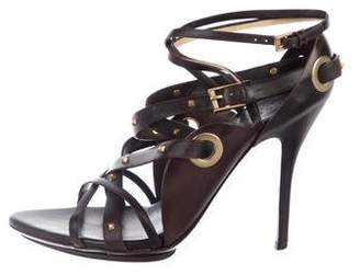 Gucci Leather Studded Sandals