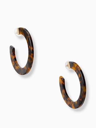 Kate Spade Slice of stone hoops