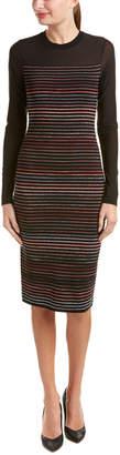 Rachel Roy Striped Rib Sheath Dress