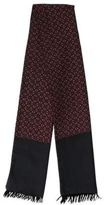 Hermes Printed Cashmere Silk Muffler