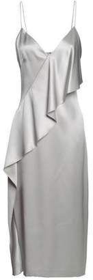 Cushnie et Ochs Draped Silk-Satin Midi Slip Dress