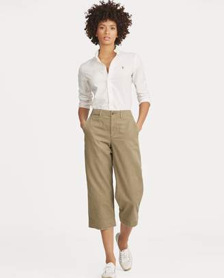 Ralph Lauren Cropped Wide-Leg Chino Pant
