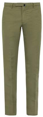 Incotex Slim Fit Linen Blend Chino Trousers - Mens - Khaki