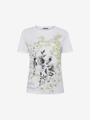 Alexander McQueen White Garden Skull T Shirt