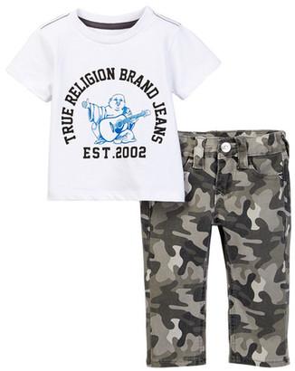 True Religion Buddha Tee & Geno Single End Set (Baby Boys) $79 thestylecure.com