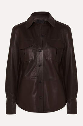 Equipment Garcella Leather Shirt - Brown