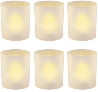 Asstd National Brand Battery Operated LED Lights in Frosted Votive Holders (Set of 6)