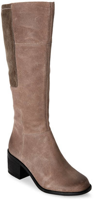 easy spirit Dark Taupe Italis Tall Boots $150 thestylecure.com