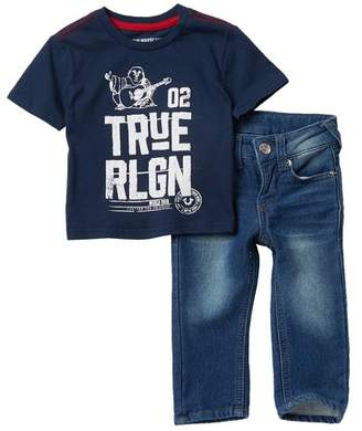 True Religion Buddha Tee & Jeans Set (Baby Boys)