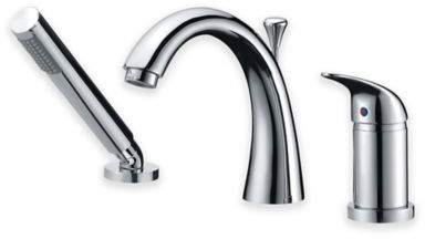 Bed Bath & Beyond ANZZI Den Single Handle Roman Bathtub Faucet with Shower Wand in Polished Chrome