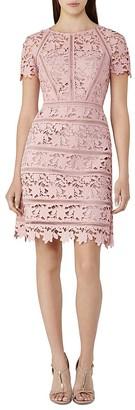 REISS Orchid Lace Dress $465 thestylecure.com