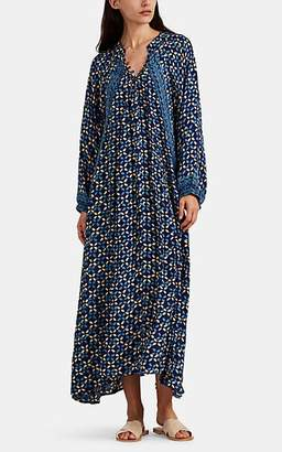 Natalie Martin Women's Fiore Silk Maxi Dress - Blue