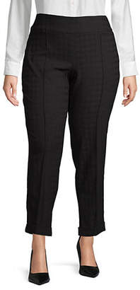 Lord & Taylor Plus Kelly Houndstooth Pants