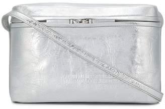 Calvin Klein Silver Leather Crossbody Bag