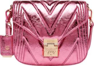 MCM Patricia Shoulder Bag In Quilted Metallic Leather