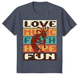 Kokopelli Spirit Love - Grunge Stripes I T-Shirt