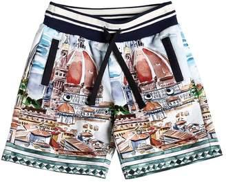 Dolce & Gabbana Florence Print Cotton Sweat Shorts