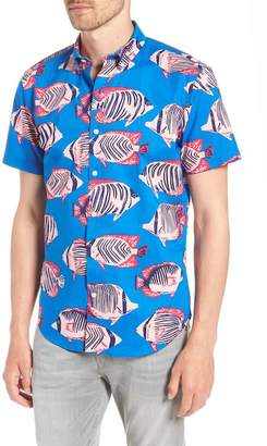 Bonobos Riviera Slim Fit Fish Print Sport Shirt