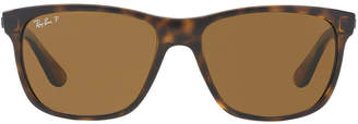 Ray-Ban Rb4181 57 Yellow Square Sunglasses