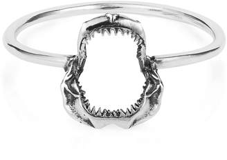 Lee Renee Mini Shark Jawbone Ring Silver