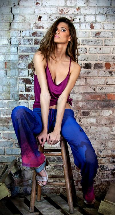 Ramona LaRue - Mandy Pant - Blue Dip Dye