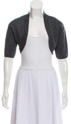 Lela Rose Short Sleeve Silk-Wool Shrug