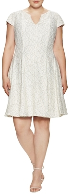 Floral Embroidered Flare Dress $168 thestylecure.com