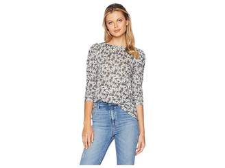 Vince Camuto Long Sleeve Ditsy Roses Puff Sleeve Top