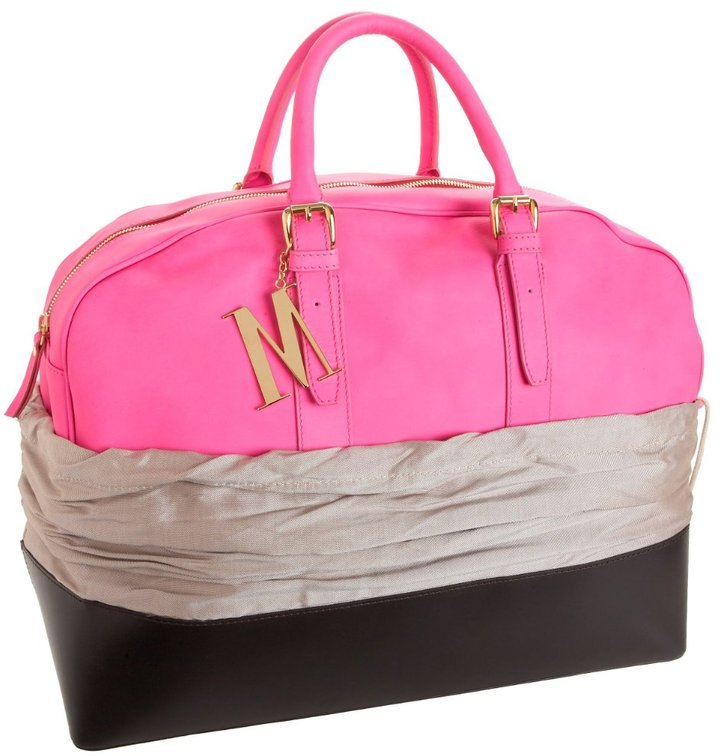 Isaac Mizrahi Medium Dayglo Duffel Bag with Duster