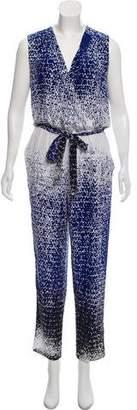 Diane von Furstenberg Silk Printed Jumpsuit